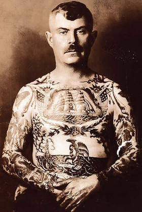 historical sailor tattoo photograph