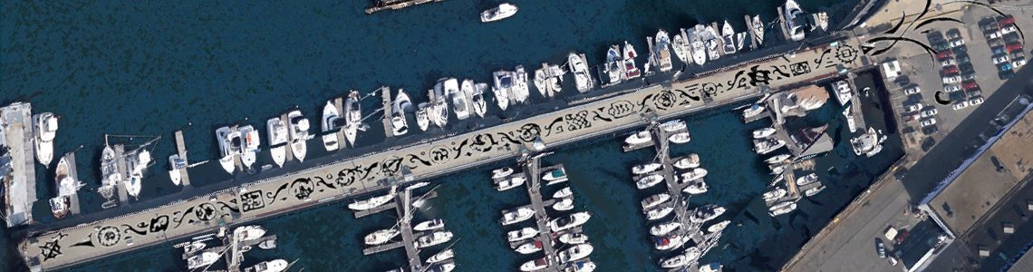Harbor Arts 1000-foot tattoo aerial mockup