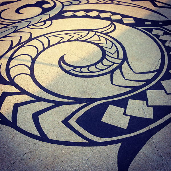 Maori Dock Tattoo copyright MaoriArts.com, curated and installed by Liz LaManche