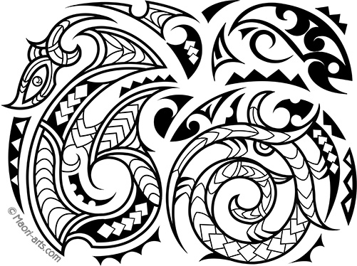 pacific islands dock tattoo design by tiki obrien of new zealand - Cook Island Designs