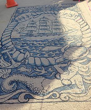 """New England Sailors"" Dock Tattoo at HarborArts, September 2013"
