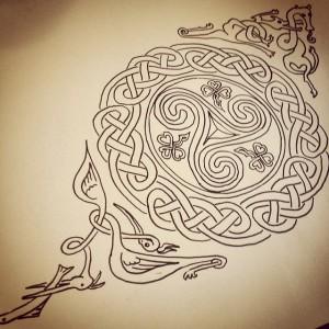 Sketch for Ireland tattoo