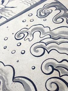 Japan tattoo design, water detail