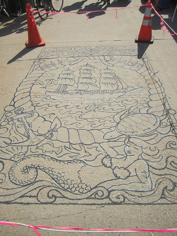New England Sailors Dock Tattoo Process- outlined, 2013
