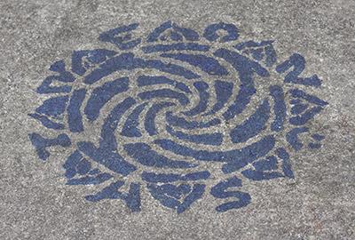 Blue Ink Stencil Test