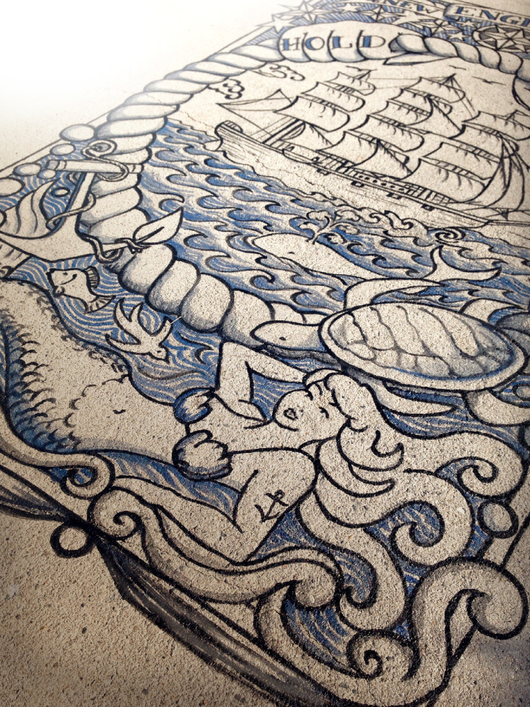 "2014 New England Sailors: ""Connected By Sea"" by Liz LaManche: dock tattoo"