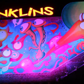 """After Dark, Hyattsville"" kinetic light mural"