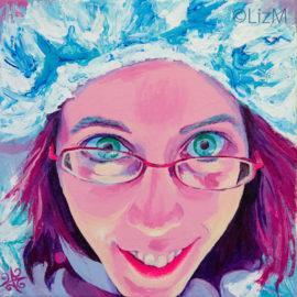 LizM: Katie, expressionist portrait