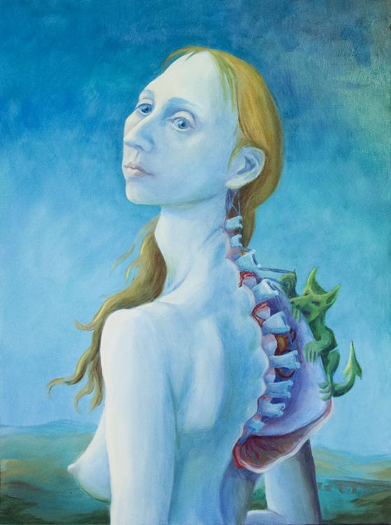 LizM Self-Portrait with Back Demons