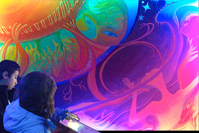 New Kinetic Light painting at FirstNight Boston by Liz Manicatide