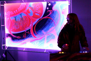 ReAwakening: interactive painting for kinetic light