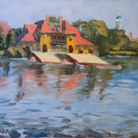 LizM: Harvard Boathouse painting