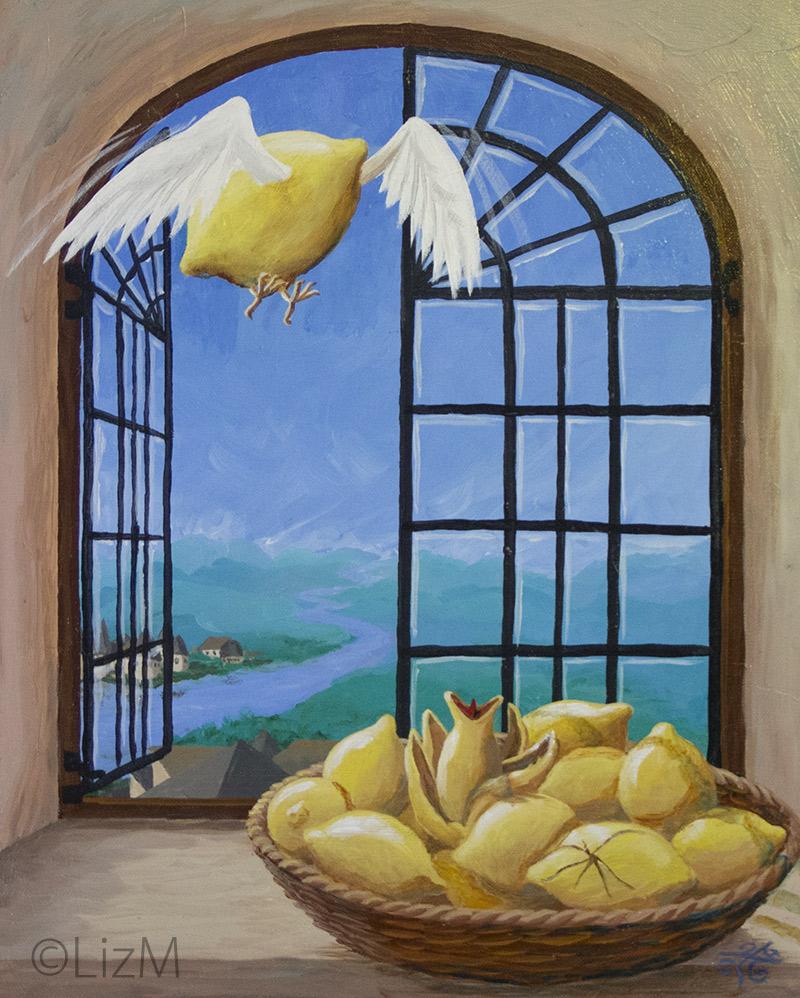 Lizm: Lemons painting