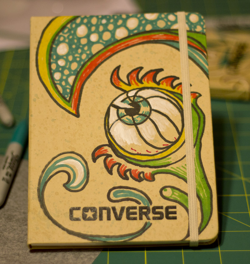 Converse Notebook Art
