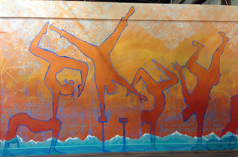 Esh Circus Arts Handstand Wall by Liz LaManche