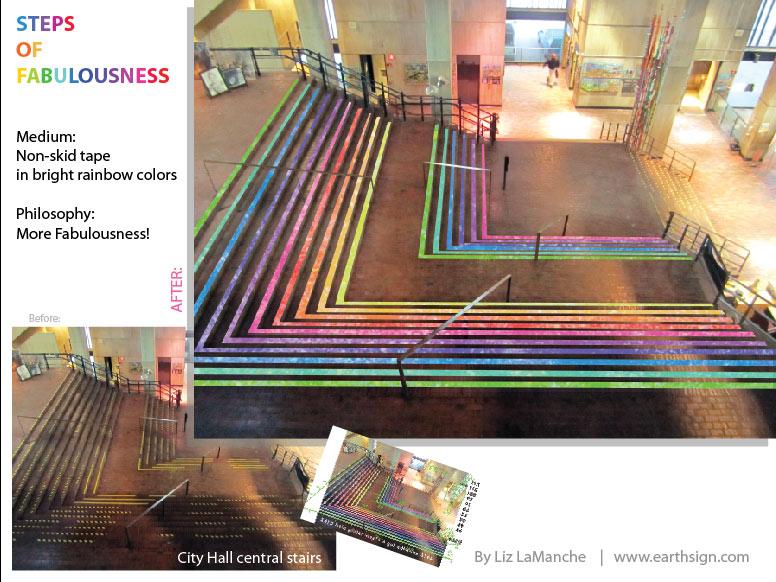 Boston City Hall improvement project: STEPS OF FABULOUSNESS!