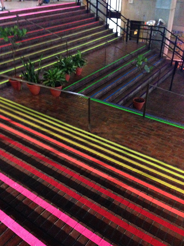 Liz LaManche's Stairs of Fabulousness at Boston City Hall