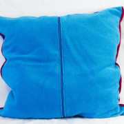 Cutieface pillow, 20in, blue, back