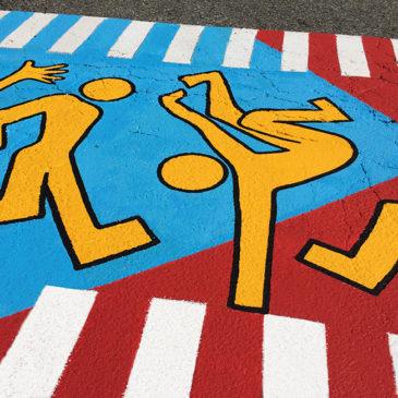 """""""Safety Dance"""" crosswalk"""