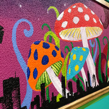 Mad City Diner opening with rad decor, chromodynamic mural wall