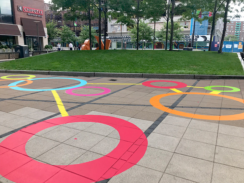 100% Human by Liz LaManche on Kendall Center Plaza