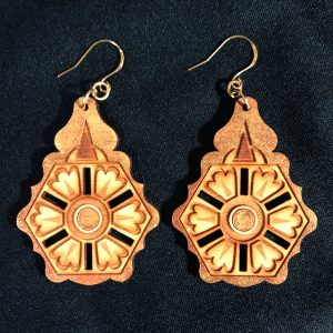 """Balkan"" earrings, deep gold"