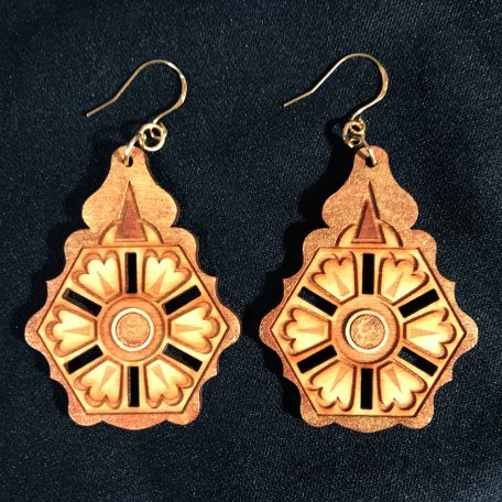 """Balkan"" earrings, deep gold"