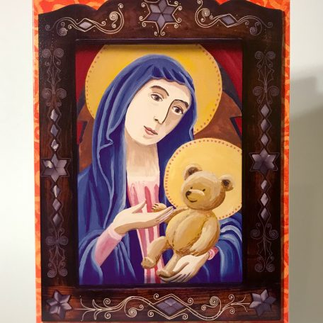 """""""Madonna and Bear"""" card front"""
