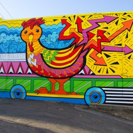 Chicken on a Skateboard, Chelsea mural