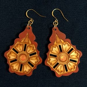 Balkan design laser cut earrings