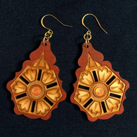Balkan design laser cut earrings