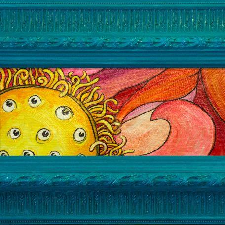 Dreaming Lotus, framed