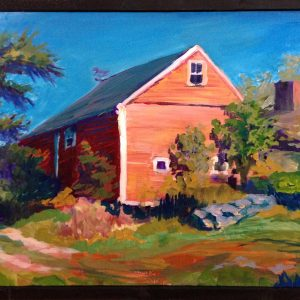 landscape painting, New England Barn