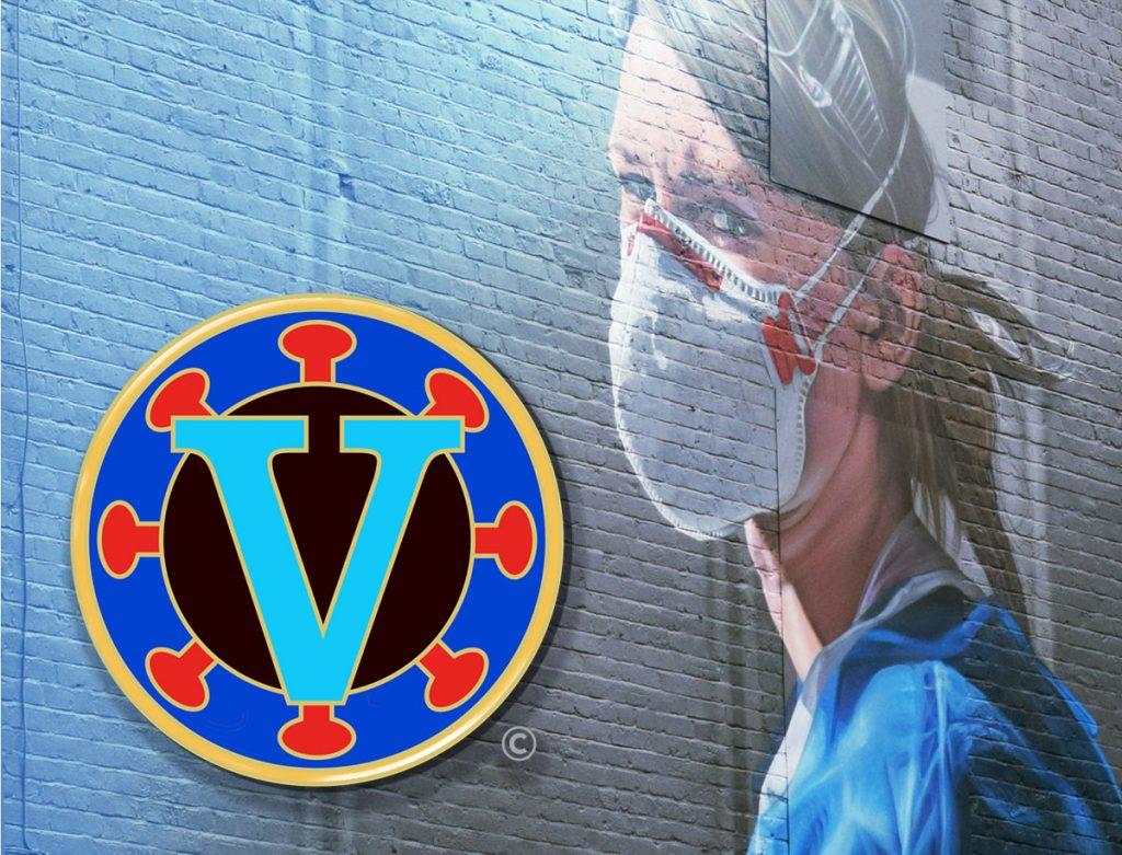 Vaccine Victory Pin design